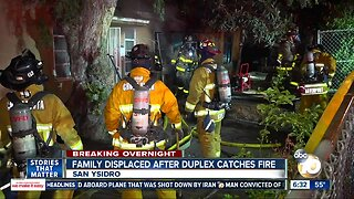 Dog dies, family displaced after fire at San Ysidro duplex
