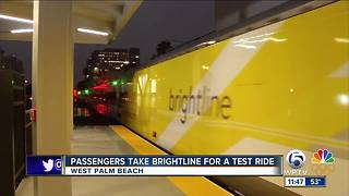 Passengers take Brightline for a test ride - Video