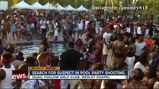 Search for suspects in pool party shooting - Video