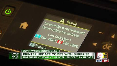 Printer update comes with surprise