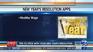 Tips to stick with your New Year's resolution