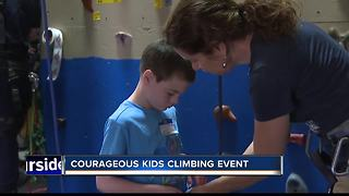 Courageous Kids Climbing helps children learn to climb - Video