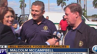 Palm Beach County Sheriff's Foundation donates to Bill Brooks' Food Drive - Video