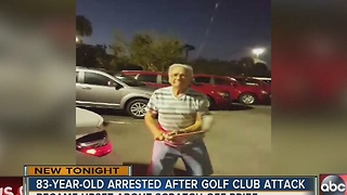 Elderly man accused of hitting salesman with car, golf club in Sarasota - Video