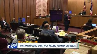 Whitaker found guilty of killing Alianna DeFreeze - Video