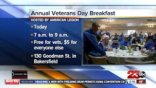 Annual Veterans Day breakfast hosted by American Legion