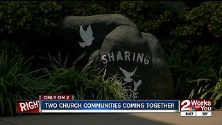 Two church communities come together