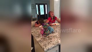 Two Sisters Have The Most Hilarious Reaction To Finding Out They're Going Vegan - Video