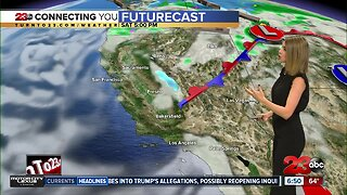 Cold front dips temperatures well below average this weekend