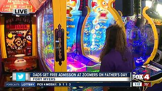 Zoomers offers free admission for dads on Father's Day