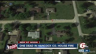One person dead in Hancock County house fire - Video