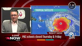 Palm Beach County schools closed Thursday & Friday due to Hurricane Irma - Video