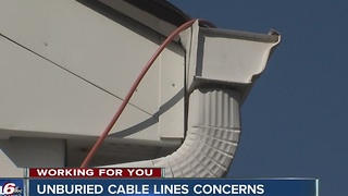 Unburied cable lines cause concerns for customers - Video