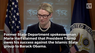 Marie Harf Claims Trump ISIS Success for Obama - Video