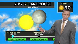 Solar eclipse in Las Vegas weather forecast as of 8/16