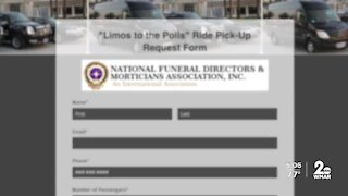 Funeral homes plan to offer free limousine rides to the polls on Election Day