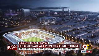 FC Cincinnati will privately fund stadium