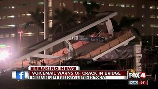 Voicemail warns of crack in bridge