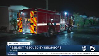 Chula Vista resident rescued from fire