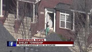 Police standoff ends in gunfire