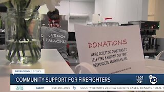 Community support for firefighters