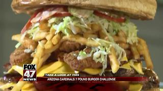 Cardinals challenge fans to eat $75 belly busting burger - Video