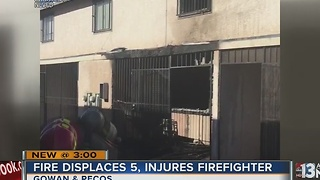 5 displaced after apartment fire near Pecos, Gowan - Video