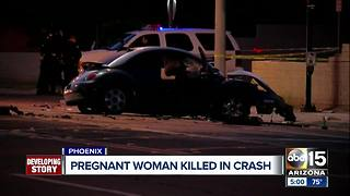 Pregnant woman killed in Phoenix crash