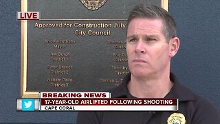 Press conference: Teen injured by shooting in Cape Coral Friday morning