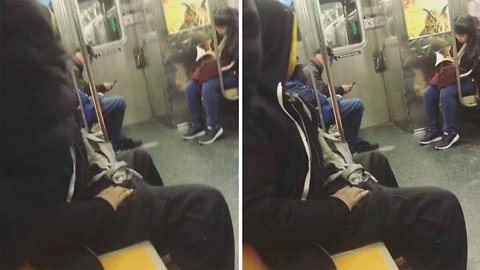 Watch: Horrified Mum Films Homeless Man Masturbating On Subway