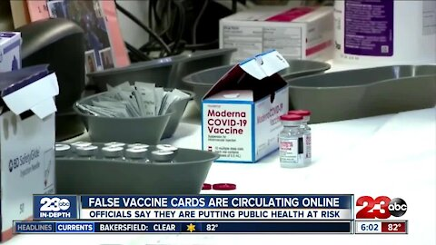 False vaccine cards are spreading on social media, and officials say they're a risk to public health