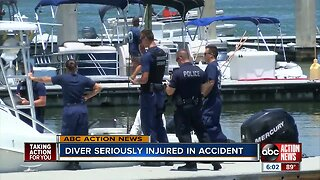 Diving accident leaves woman seriously injured