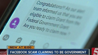 Woman Warns Of Facebook Scam Claiming To Be Gov't - Video