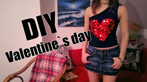 DIY Valentine`s day shirt