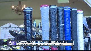 Summer Golf Tip #3 Grips with Broncos Dan Potter - Video