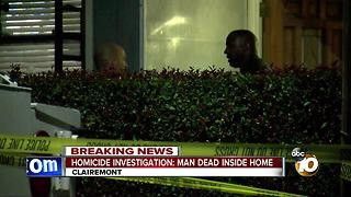 Homicide investigation: man dead inside home - Video