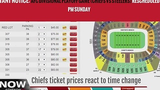 Prices for Chiefs tickets fluctuate due to weather - Video
