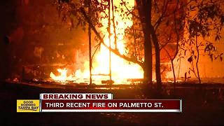 Tampa Fire Arson investigating third suspicious fire in Tampa neighborhood - Video