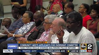 Community members meet applicants consent decree oversight committee - Video