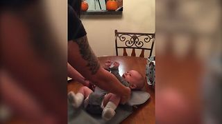 Ticklish Baby Leaves Surprise For Parents - Video