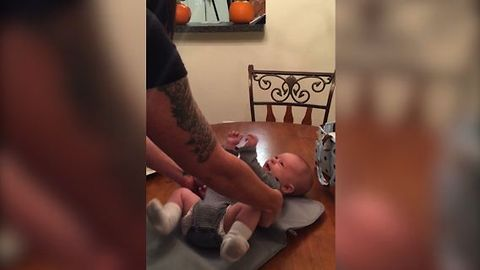 A Baby Being Tickled Gets The Last Laugh On His Parents