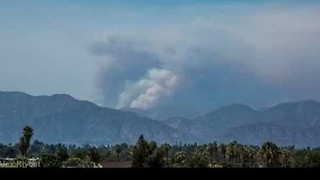 Timelapse Shows Smoke Rise From Santa Clarita Brush Fire - Video