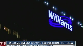Williams Energy Moving 400 Positions To Tulsa - Video