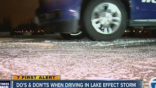 Winter weather driving tips - Video