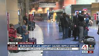 Blackout at Atlanta airport causes ripple effect - Video