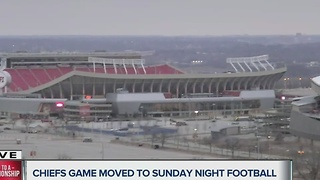 Chiefs game against Steelers moved to primetime - Video