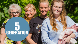 5 generations of girls - Video