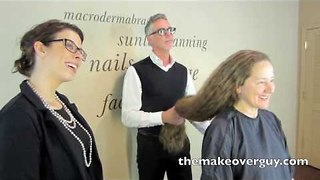 MAKEOVER! Longest Hair I've Ever Cut, by Christopher Hopkins, The Makeover Guy - Video