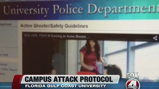 FGCU campus attack protocol outlined - Video