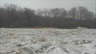 Drone Footage Captures Spectacular Ice Breakup On Frozen Humber River - Video